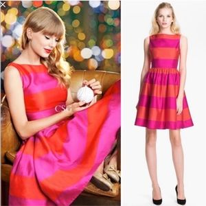 Kate Spade Carolyn pink/orange Colorblock Dress 8